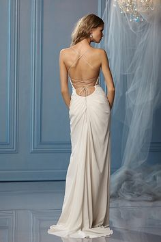 Backless look wedding dress Caprina Gown by Watters.com