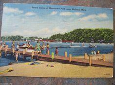 Macatawa Park Near Holland Mi 1958 Postcard