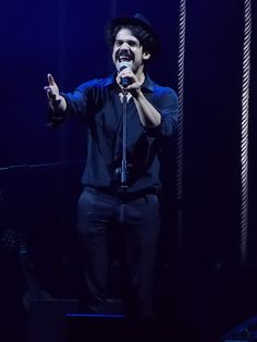 Mannarino singing and smiling