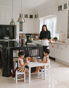 Baking is a super fun treat for the twins. I bake and they get all hands on with decorating the cake or cupcakes. Having the perfect table and chair is essential for them to get comfortable and crafty in decorating their dessert