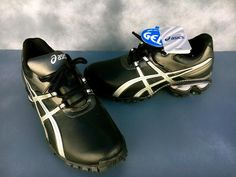 Asics Men's Gel Linksmaster Golf Cleat Black/Silver/Grey~NEW W/TAGS~PGA~SIZE 8.5 #ASICS