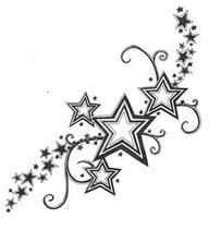 star tattoos for girls - Google Search
