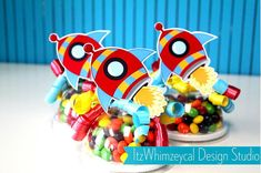 Rocket Ship Candy Favor Containers