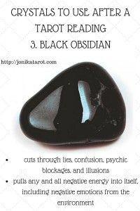 #Crystals to use after a #Tarot reading or spiritual practice: 3. black obsidian http://jonikatarot.com/blog