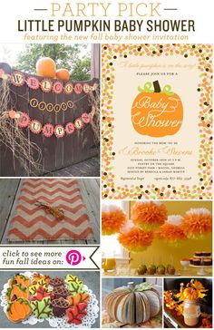 fall baby shower ideas   Party Pick Little Pumpkin Baby Shower Party