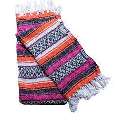 Mexican Blanket - Orange   Pink