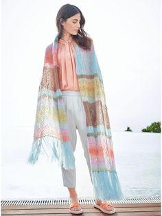 Lana Grossa TESTE PADRÃO EM LAÇO Silkhair / Estampa Silkhair | FILATI No. 51 (Primavera / Verão 2016) - Edição em Inglês - Design 38 | FILATI Knitting Pattern - Model Packages