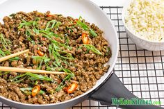 Sweet, spicy and salty, our Low Carb Sticky Korean Ground Beef Stir Fry is a great balance of Asian inspired flavors.