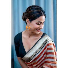 Bollywood Actress Hot Photos, Beautiful Bollywood Actress, Bride Hairstyles, Messy Hairstyles, Glamour Photo Shoot, Heena Khan, Bridal Photoshoot, Indian Beauty Saree, Celebs