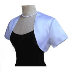 Women Solid White Bolero Shrug