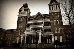 The Athens Lunatic Asylum in Athens Ohio housed many violent people at one time. Hundreds of lobotomies were performed here. It has been the center of many ghost stories since it's closing in 1993. For the Entire Story: http://www.toptenz.net/top-10-most-haunted-cities-in-the-u-s.php