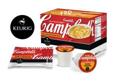 """""""Campbell's Fresh-Brewed Soup(TM)"""" will offer consumers the taste and experience of """"Campbell's"""" soups in a convenient snack that can be prepared at the touch of a button in Keurig(R) brewers. (Photo: Business Wire)"""