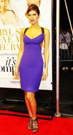 Lake Bell in a beautiful purple number