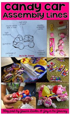Teach your students about the concept of building cars with assembly lines - using candy! A social studies lesson they will not forget! Blog post by Jessica Lawler @ Joy in the Journey
