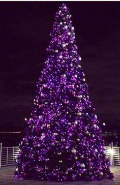 christmas tree - Purple Christmas Tree Lights