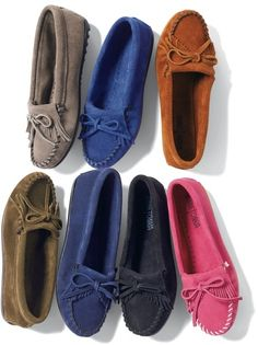 ShopStyle(ショップスタイル): Minnetonka シューズ(定番カラースエードモカシン)/シュークローゼット / Fall New Shoes picks on ShopStyle