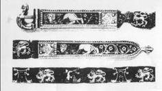 Belt ilk decorated by gilded enameled silver, 1340, Zahringer museum, Baden-Baden