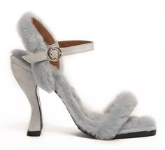 a former opening ceremony designer launches shoes inspired by her best friends - I-D Vogue.com Vogue Opening Ceremony Runway Pale blue shearling cocktail heel suede 90s shoe