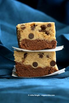 Vegan Cookie Dough Brownies. Gluten-free No Bake High Protein - Vegan Richa