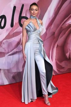Gigi Hadid in Versace - my favorite from the Fashion Awards Red Carpet Gallery 2016 | British Vogue