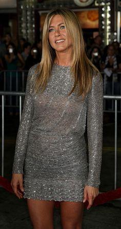 Jennifer Aniston in grey