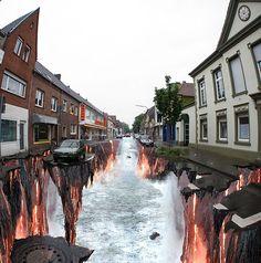 Chalk Art - Edgar Müller  What a 3D-Drawing !