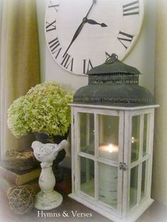Ready for Spring! Love this vignette