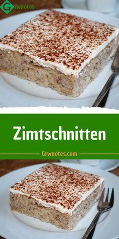 Zutaten für  16  Portionen  Für den Teig  6 Stk. Eigelbe  6 Stk. Eiweiße  1 Prise Salz  2.5 Tassen Zucker  1.5 Tassen Nüsse (gemahlen)  1.5 Tassen Öl  1.5 Tassen Mineralwasser  3 Tassen Mehl (gesiebt)  0.5 Packungen Backpulver  Für den Belag  250 ml Schlagobers  0.5 Becher Sauerrahm  1 Packung Vanillezucker  Nach Belieben Zimt    1    Zubereitung  Für die Sweet Recipes, Cake Recipes, German Baking, Sweet Bar, International Recipes, Christmas Baking, Yummy Cakes, No Bake Cake, Cake Cookies