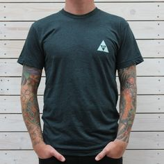 The Tri-ad tee from our Spring 2013 range, was dreamt up, designed and printed in our store and workshop North Cornwall.....Enjoy!Poly-Cotton (50% Polyester / 50% Combed-Cotton) construction