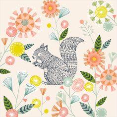 Hiding Squirrel - Bethan Janine