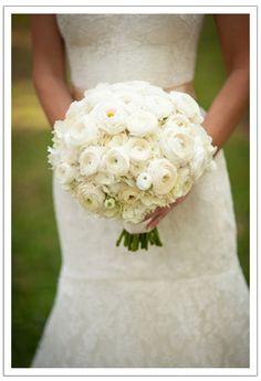 all white ranunculus bouquet