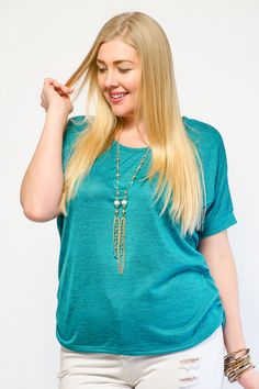 Chic Marled Gathered Knit Top