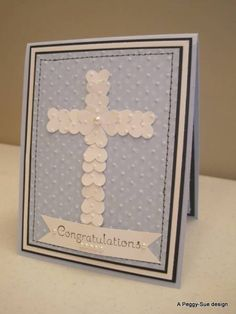 Punch art Baptism card