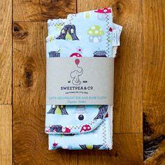 Organic Burp Cloth and Bib Set  Monaluna Fox by SweetpeaandCo
