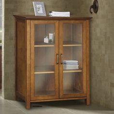Elegant Home Avery 2 Door Floor Cabinet - Floor Cabinets & Racks at Hayneedle