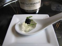 Toque Catering- Victoria BC/Moët  Chandon Champagne Gelee,  Northern Divine Caviar/Vancouver Island Weddings