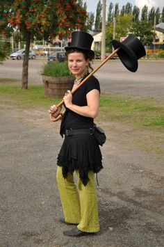 Somewhere at the antique market in Germany,I bought this 2 stovepipes:)/ Egy régiségvásár ezt hozta ki belőlem...Az összecsukható(!!!) cilindert láthatjátok a Kádár KAta kiállításokon azóta is:) Riding Helmets, Captain Hat, Portraits, Marvel, Hats, Fashion, Moda, Hat, Fashion Styles