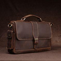102.96$  Watch here - http://alipa9.worldwells.pw/go.php?t=32781275258 - Aolen 2016 Men Casual Briefcase Business Shoulder Genuine Leather Messenger Bags Computer Laptop Handbag Men's Travel Bags 102.96$