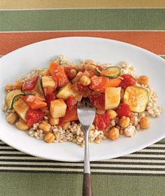 Slow Cooker Vegetable stew to put over grains (such as rice, barely..etc) Did not have zucchini for this recipe at the time I made it.
