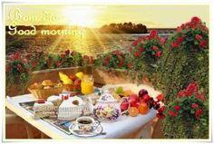 Dizer um bom dia é colocar no coração de alguém uma sementinha de otimismo, e a nossa vontade de ver a paz, o sorriso e a felicidade a se espalharem em emoções duradouras. Bom dia para você amigo que está despertando agora, um amanhecer renovado, e um dia feliz e lindo! ___Café da