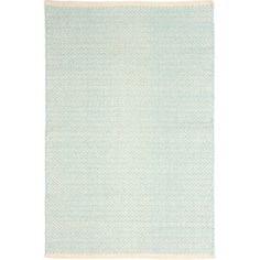 Dash and Albert Rugs Herringbone Woven Cotton Sky Blue Area Rug   AllModern