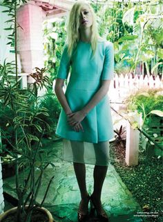 turquoise dress by leda & st. jacques for elle canada