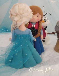 Elsa e Anna Frozen Para decoração de Festa Frozen www.mamaynena.com.br