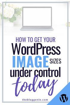How to get your WordPress image sizes under control today Make Money Blogging, Make Money Online, How To Make Money, How To Get, Website Down, Web Design, Design Ideas, Website Maintenance, Wordpress Website Design