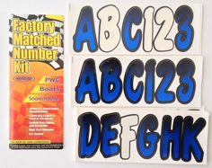 Hardline Factory Matched Number Kit Blue Black Boats Meets US Coast Guard Requirements