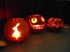 Alice in wonderland pumpkin carvings