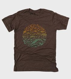 Show your love for the animal kingdom with this heather brown tee.