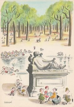 """""""Comment on s'enrhume à Paris"""", 1961, Jean-Jacques Sempé - juin"""