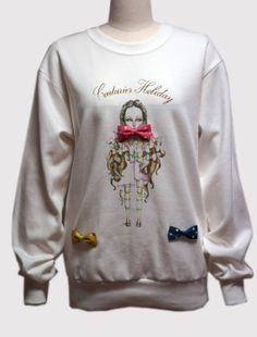 Polka dot bow Sweat shirt by couturierholiday on Etsy, $49.00