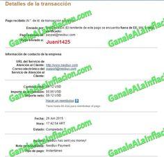 Segundo Pago NeoBux - $9,12  - 26-06-2015